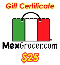 Picture of MexGrocer.com $25 Gift Certificate - Item No. 10000