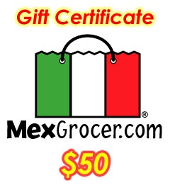 Picture of MexGrocer.com $50 Mexican Food Gift Certificate - Item No. 10001