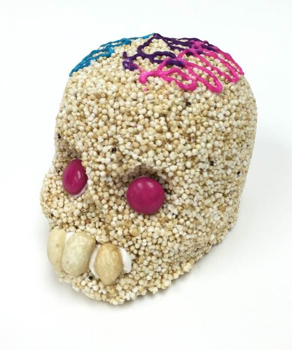 Picture of Calavera de Amaranto Dia de Muertos - Amaranth Skull&nbsp;- Item No.&nbsp;10069-a