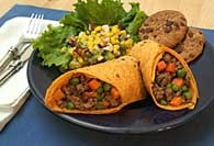 Picture of Hearty Chuck Wagon Wrap Recipe - Item No. 108-chuckwagonwraps
