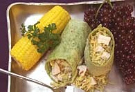 Picture of Chicken and Rice Wrap Recipe - Item No. 110-chickenricewrap