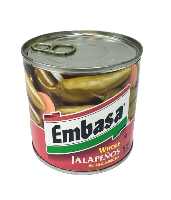 Picture of Jalapenos - Embasa Whole Jalapenos in Escabeche 12 oz.&nbsp;- Item No.&nbsp;1100