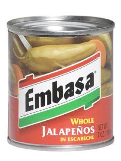 Picture of Embasa Whole Jalape�os in Escabeche 7 oz. - Item No. 1110