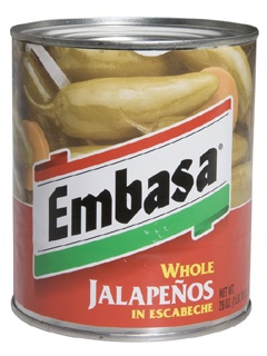 Picture of Jalapenos - Embasa Whole Jalapenos in Escabeche 26 oz. - Item No. 1115