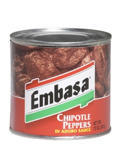 Picture of Embasa Chipotle Peppers in Adobo Sauce 12 oz. - Item No. 1147