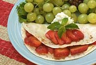 Picture of Fruit and Cinnamon Quesadilla Recipe - Item No. 116-fruitcinnamonquesa