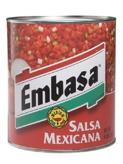 Picture of Embasa Salsa Mexicana - Red #10 can&nbsp;- Item No.&nbsp;1161