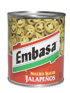 Picture of Embasa Nacho Sliced Jalape�os 26 oz. - Item No. 1169