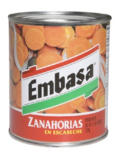 Picture of Embasa Carrots in Escabeche - Zanahorias en Escabeche 26 OZ&nbsp;- Item No.&nbsp;1177