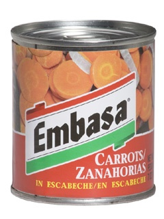 Picture of Embasa Carrots in Escabeche - Zanahorias en Escabeche 7 oz - Item No. 1178