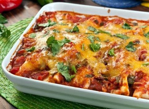 Picture of Chicken Enchiladas Mexican Recipe- Item No.121-chicken-enchiladas-ii