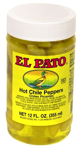 Picture of El Pato Hot Chile Peppers - Yellow Peppers 12 FL. OZ.&nbsp;- Item No.&nbsp;1271