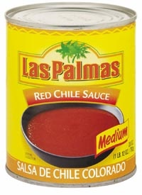 Picture of Red Chili Sauce - Salsa de Chile Colorado Medium by Las Palmas 28 OZ - Item No. 1293