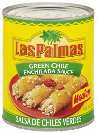 Picture of Green Chili Sauce Medium by Las Palmas 28 OZ - Item No. 1294