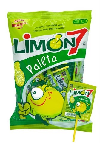 Picture of Limon 7 Lollipop Covered with Salt and Lime Powder 30 ct&nbsp;- Item No.&nbsp;12999-01327