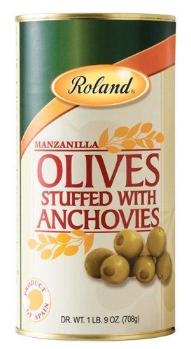 Picture of Anchovy Olives - Roland Olives Stuffed with Anchovies - 24 oz&nbsp;- Item No.&nbsp;13206