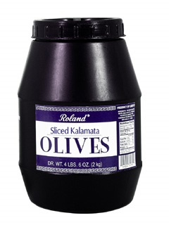 Picture of Kalamata Olives - Roland Sliced Kalamata Olives - 72 oz - Item No. 13207