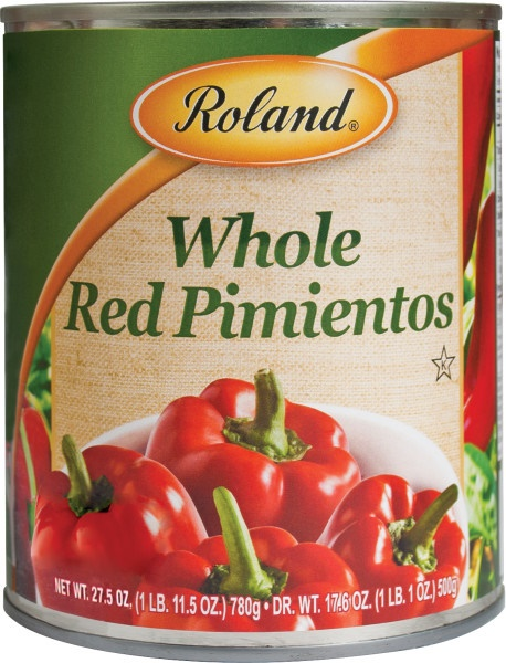 Picture of Pimientos - Roland Red Sweet Peeled Pimientos - 27.5 oz - Item No. 13214