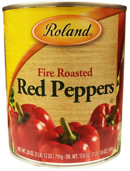 Picture of Red Peppers - Roland Fire Roasted Red Peppers - 28 oz - Item No. 13216