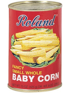 Picture of Baby Corn - Roland Fancy Baby Corn Small Whole 15 oz&nbsp;- Item No.&nbsp;13253
