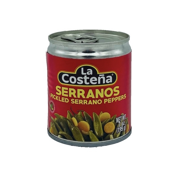 Picture of La Costena Serrano Peppers 7 oz. - Item No. 1345