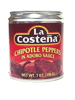 Picture of La Costena Chipotle Peppers in Adobo Sauce 7 oz. - Item No. 1349