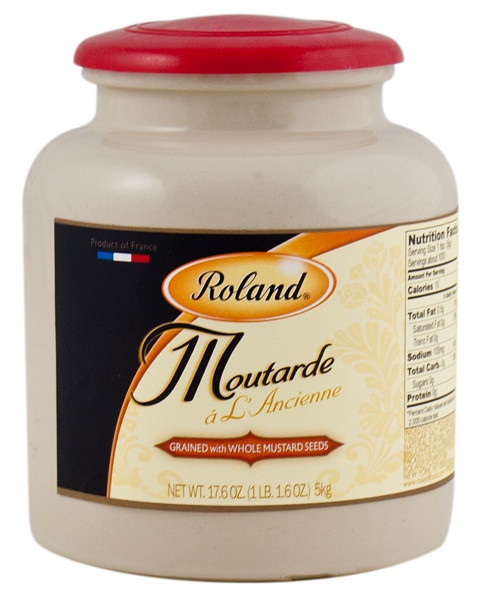 Picture of Dijon Moutarde - Roland Grained Dijon Mustard a L'Ancienne 17.6 oz - Item No. 13520