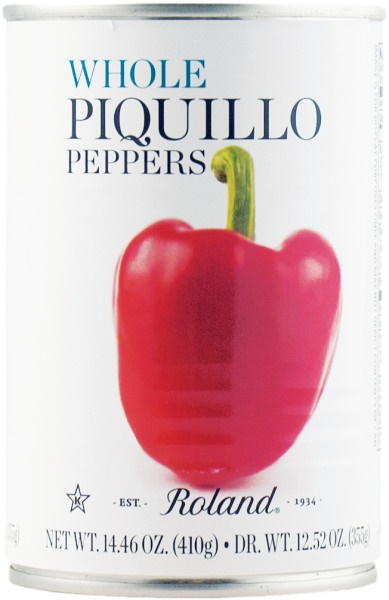 Picture of Roland Whole Piquillo Peppers 13.75 oz - Item No. 13584