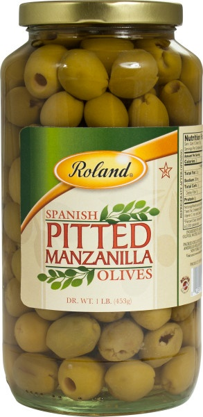 Picture of Pitted Manzanilla Olives 16 oz by Roland - Item No. 13594