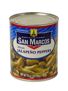Picture of San Marcos Whole Jalapeno Peppers 26 oz&nbsp;- Item No.&nbsp;1360