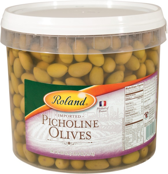 Picture of Roland Picholine Olives-France 5.5 lbs - Item No. 13609