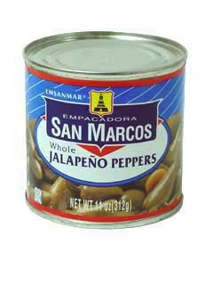 Picture of San Marcos Whole Jalapeno Peppers 11 oz&nbsp;- Item No.&nbsp;1362
