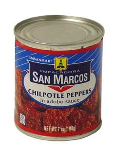 Picture of San Marcos Chipotle Peppers in adobo sauce 7 oz - Item No. 1363