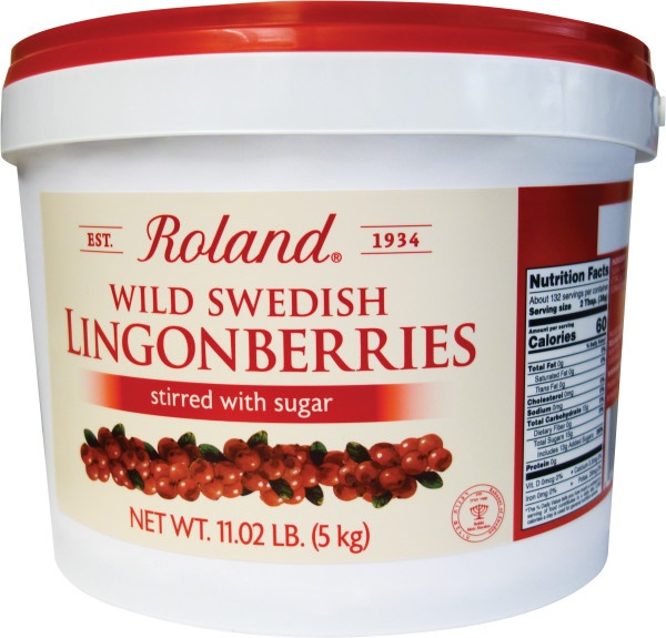 Picture of Roland Wild Lingonberries in Stirred in Sugar 11 lbs - Item No. 13639