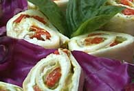 Picture of Roasted Red Pepper Rollups Recipe - Item No. 138-roastedpepperrollup
