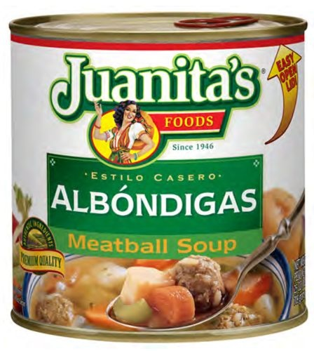 Picture of Juanita's Meatball Soup - Albondigas 29 oz. - Item No. 1389