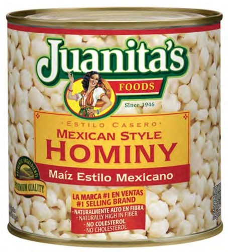 Picture of Hominy - Mexican Style Hominy by Juanita's 25 oz. - Item No. 1390