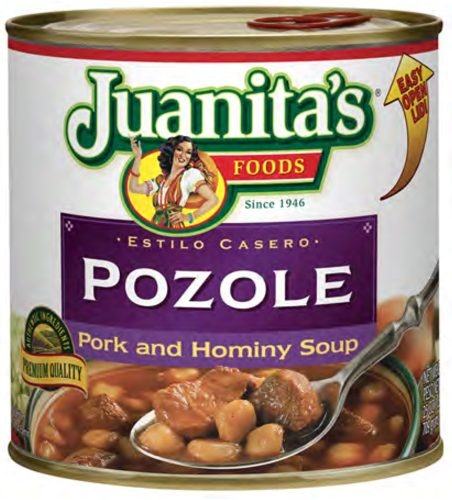 Picture of Pozole - Pork & Hominy Soup by Juanita's 29 oz. - Item No. 1393