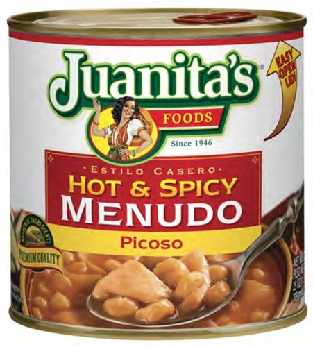Picture of Hot & Spicy Menudo by Juanita's 29 oz. - Item No. 1394