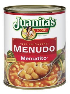Picture of Menudo - Menudito Foodservice by Juanita's 105 oz. - Item No. 1398