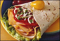 Picture of Smoked Turkey Tortilla Wrap Recipe - Item No. 142-smoked-turkey-tortilla-wrap