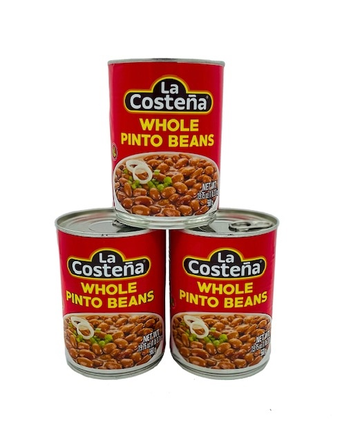 Picture of Pinto Beans - La Costena Whole Pinto Beans 19.8 oz - Item No. 1425