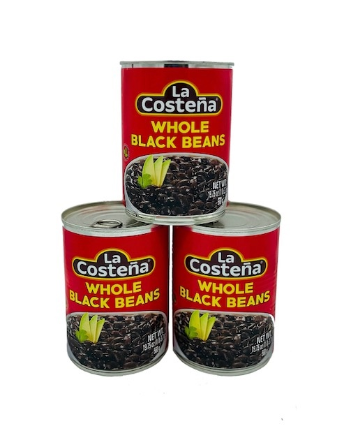 Picture of Whole Black Beans by La Costena 19.8 oz - Item No. 1427