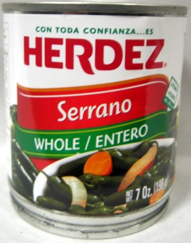 Picture of HERDEZ - Serrano Peppers - Chiles Serranos Herdez 7 oz - Item No. 1488