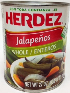 Picture of Jalapenos Herdez Whole 27 oz&nbsp;- Item No.&nbsp;1490