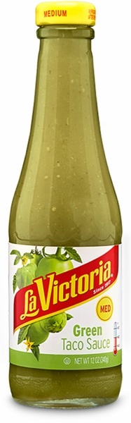 Picture of La Victoria Green Taco Sauce -  Medium - 12 oz&nbsp;- Item No.&nbsp;14906