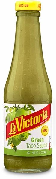 Picture of Green Taco Sauce La Victoria -  Medium - 12 oz- Item No.14906