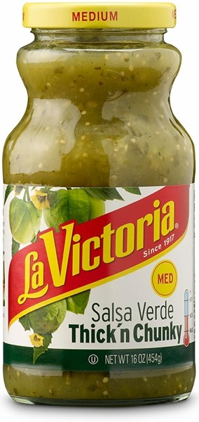 Picture of Salsa Verde Thick n' Chunky by La Victoria -  Medium - 16 oz. - Item No. 14927