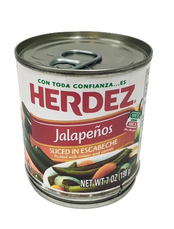 Picture of Sliced Jalapenos Herdez - Rajas de Jalapenos 7 oz - Item No. 1495