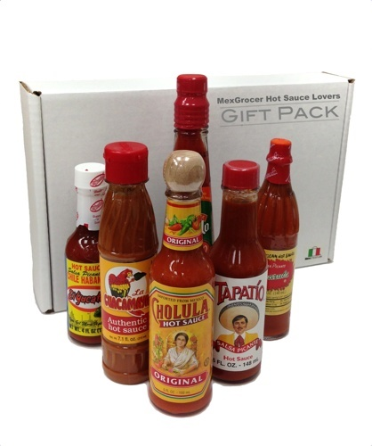Picture of Mexican Hot Sauce - Buy a Hot Sauce gift pack at MexGrocer.com - 6  items - Item No. 14992